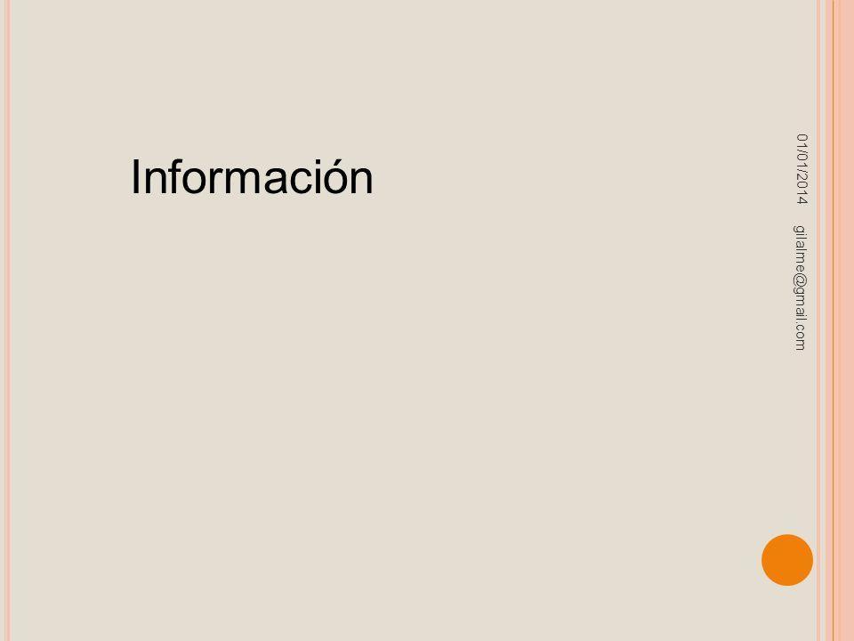 01/01/2014 gilalme@gmail.com Información