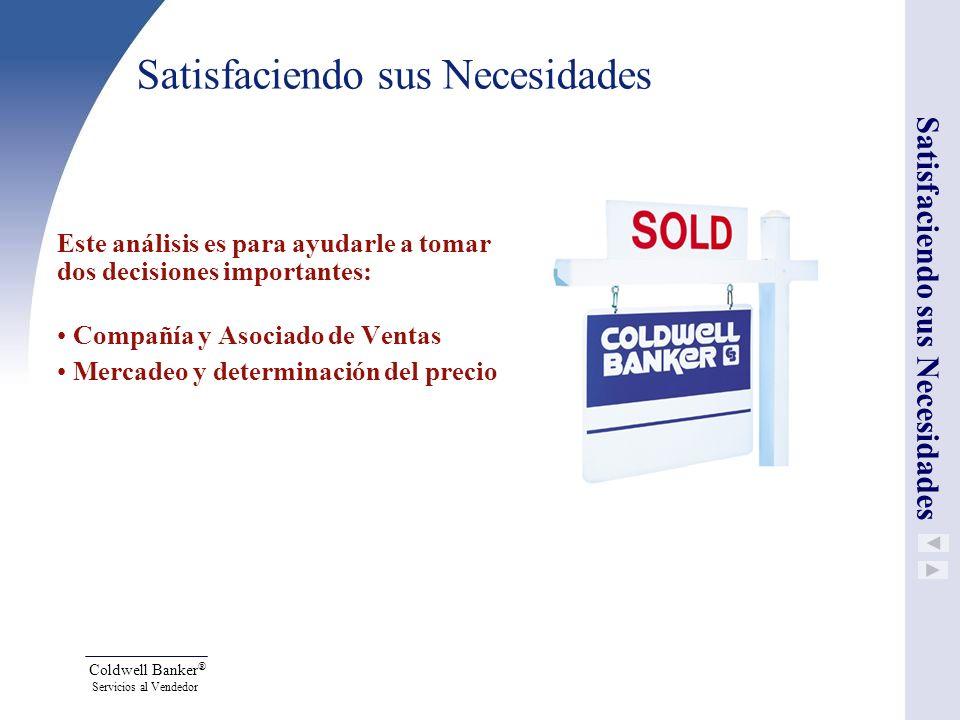 Coldwell Banker ® Servicios al Vendedor ¿Cuál es el mejor precio obtenible por su propiedad.
