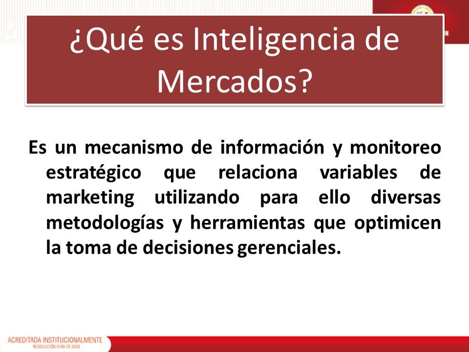 Es un mecanismo de información y monitoreo estratégico que relaciona variables de marketing utilizando para ello diversas metodologías y herramientas