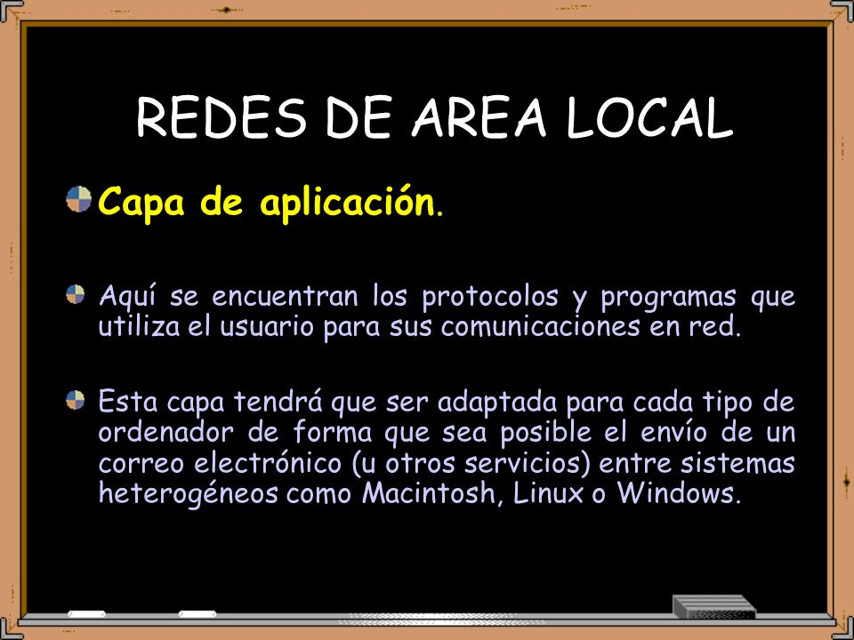 REDES DE AREA LOCAL Capa de aplicación.