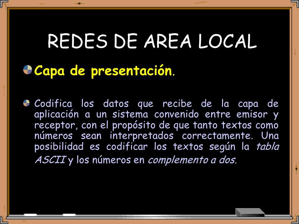 REDES DE AREA LOCAL Capa de presentación.