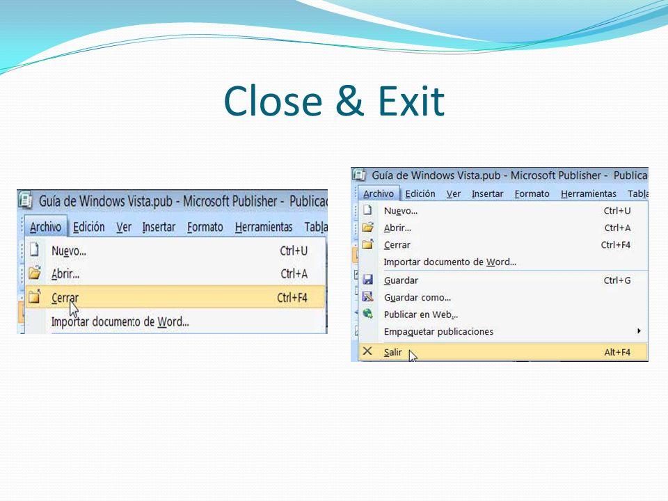 Close & Exit