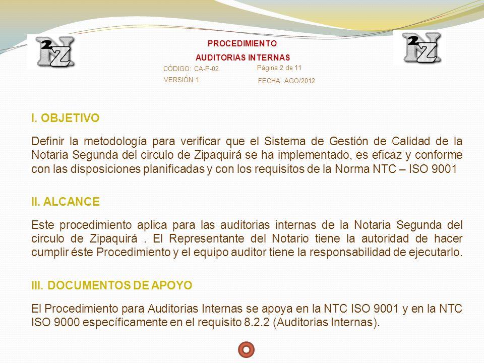 IV.DEFINICIONES Alcance de la Auditoría: Extensión y límites de una Auditoría.