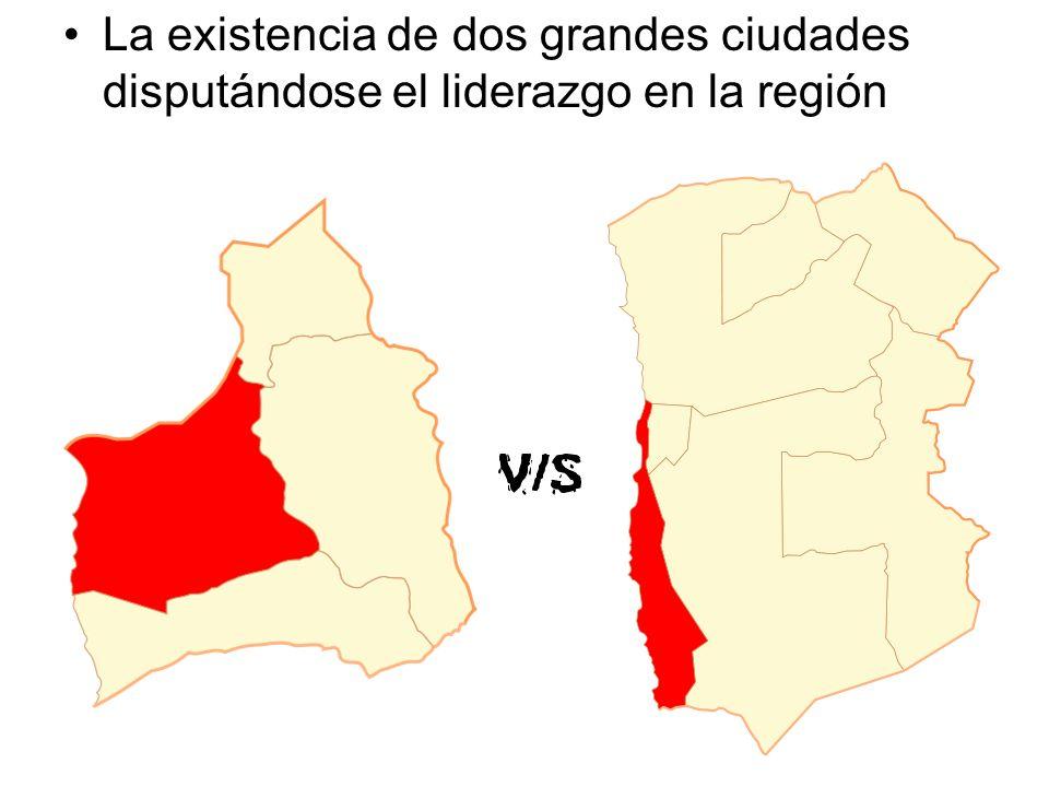 La existencia de dos grandes ciudades disputándose el liderazgo en la región