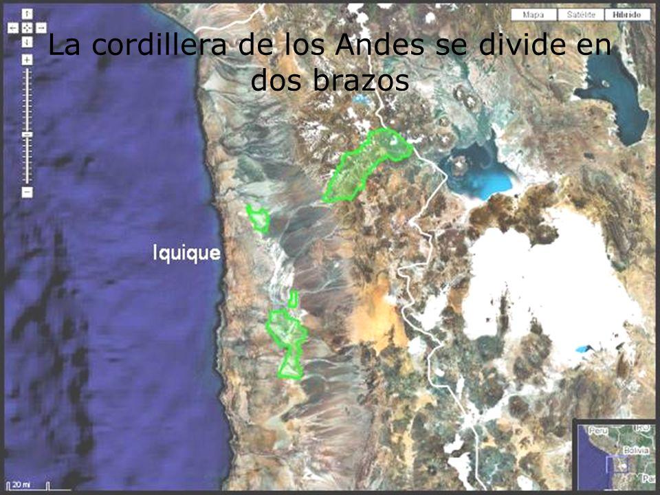 La cordillera de los Andes se divide en dos brazos