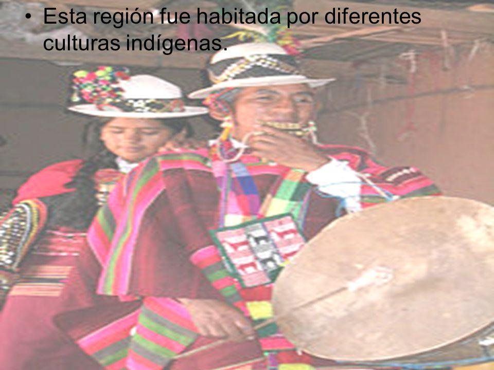 Esta región fue habitada por diferentes culturas indígenas.