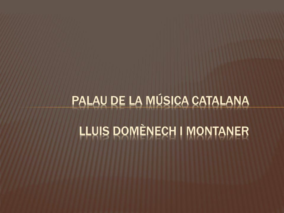 TITULO : PALAU DE L A MÚSICA CATALANA.