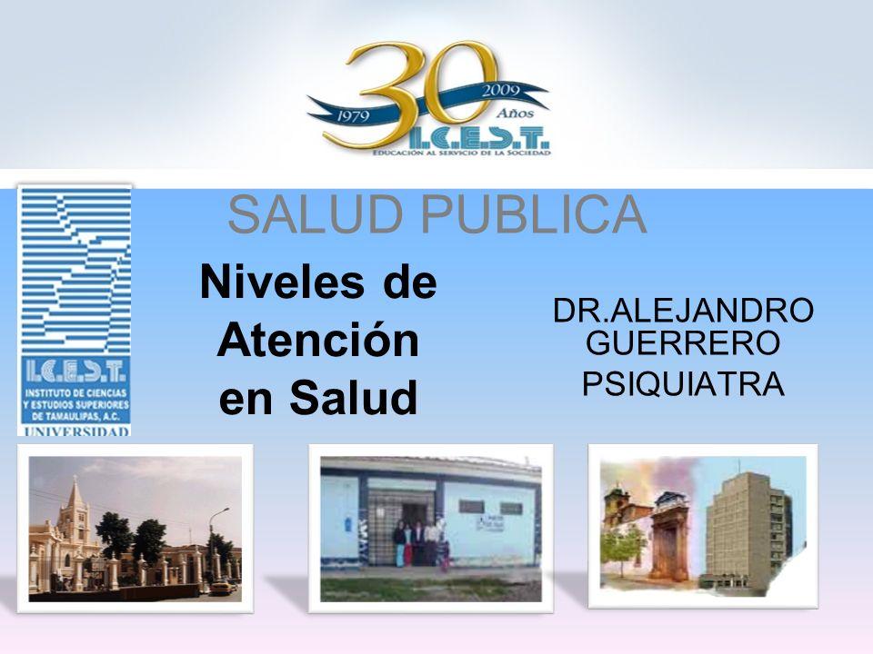 SALUD PUBLICA Niveles de Atención en Salud DR.ALEJANDRO GUERRERO PSIQUIATRA