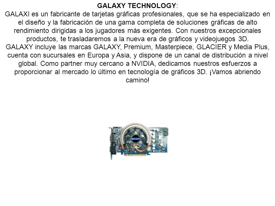GALAXY TECHNOLOGY: GALAXI es un fabricante de tarjetas gráficas profesionales, que se ha especializado en el diseño y la fabricación de una gama compl