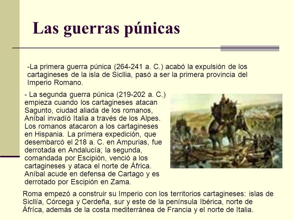 Las guerras púnicas - La segunda guerra púnica (219-202 a. C.) empieza cuando los cartagineses atacan Sagunto, ciudad aliada de los romanos, Aníbal in