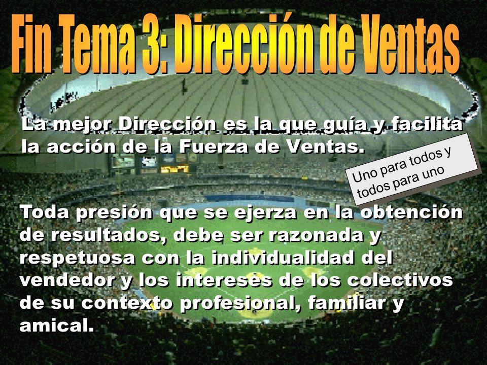 © Enrique Pérez del Campo, 2000 17 Tema 3: Dirección de Ventas Funciones y tareas específicas... (2) èPrevisiones de ventas para la alta dirección. èI