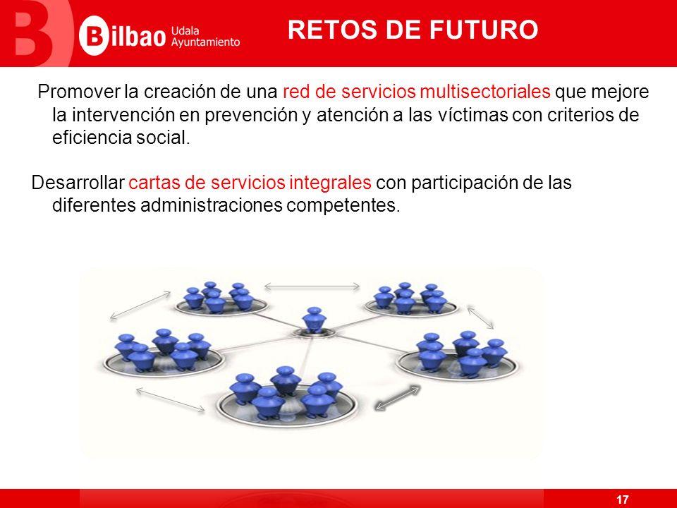 17 RETOS DE FUTURO Promover la creación de una red de servicios multisectoriales que mejore la intervención en prevención y atención a las víctimas co