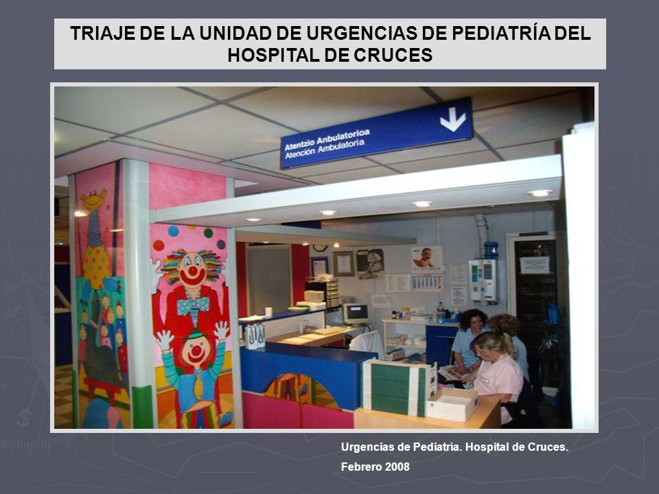 TRIAJE DE LA UNIDAD DE URGENCIAS DE PEDIATRÍA DEL HOSPITAL DE CRUCES Urgencias de Pediatría. Hospital de Cruces. Febrero 2008