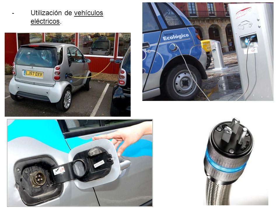 - Utilización de vehículos eléctricos.