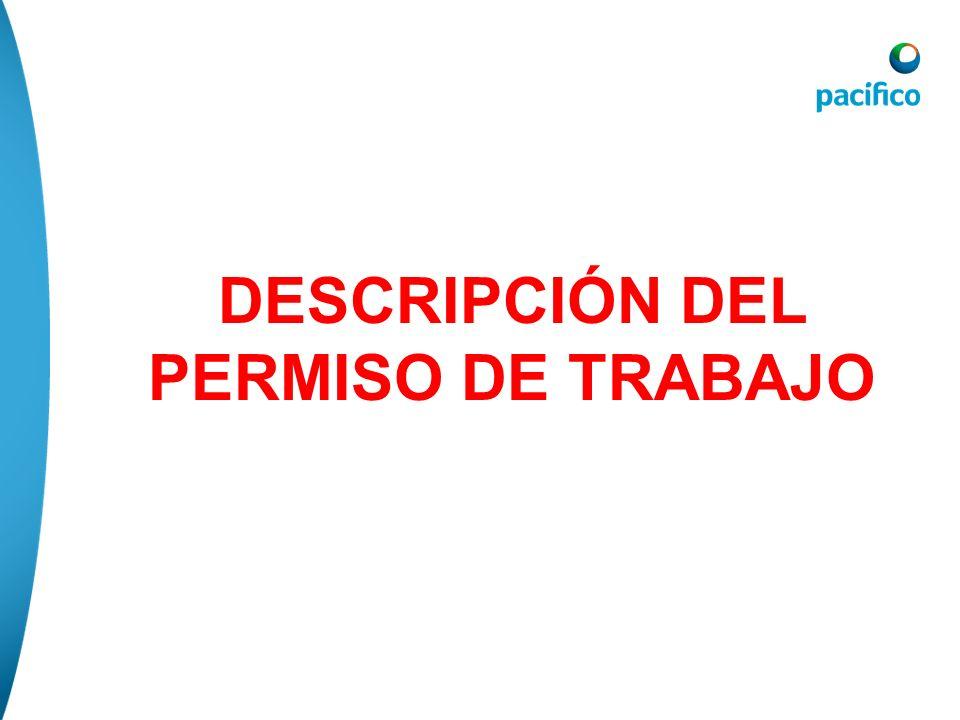 DESCRIPCIÓN DEL PERMISO DE TRABAJO