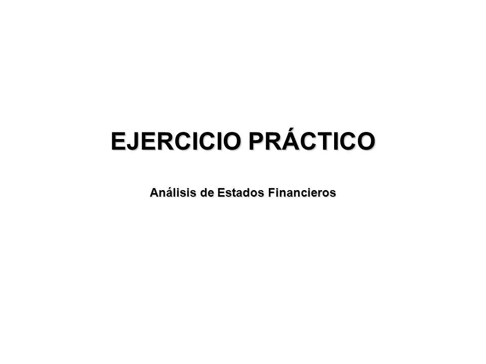 EJERCICIO PRÁCTICO Análisis de Estados Financieros