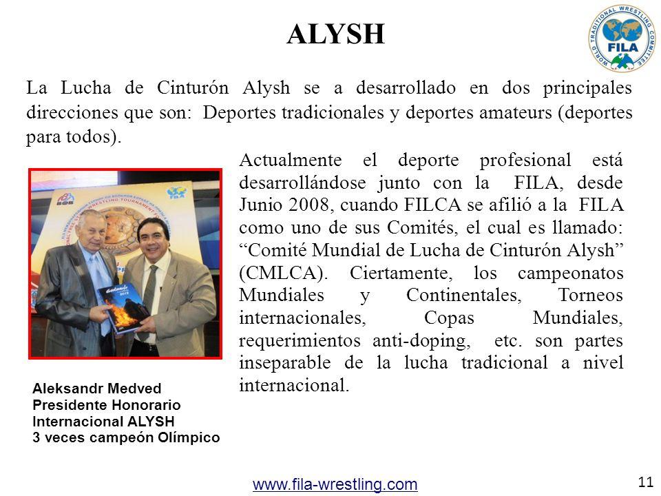 ALYSH La Lucha de Cinturón Alysh se a desarrollado en dos principales direcciones que son: Deportes tradicionales y deportes amateurs (deportes para t