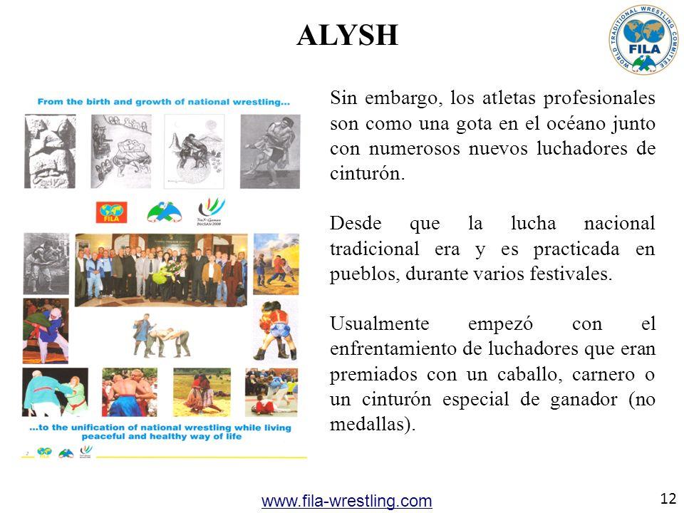 ALYSH Sin embargo, los atletas profesionales son como una gota en el océano junto con numerosos nuevos luchadores de cinturón. Desde que la lucha naci