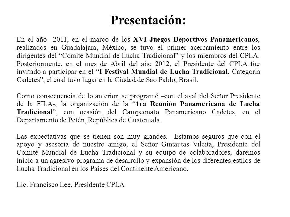 Presentación: En el año 2011, en el marco de los XVI Juegos Deportivos Panamericanos, realizados en Guadalajara, México, se tuvo el primer acercamient
