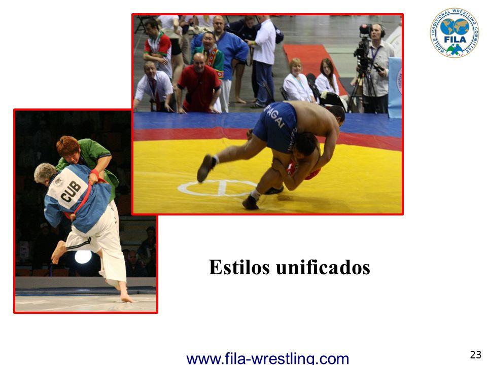 23 www.fila-wrestling.com Estilos unificados