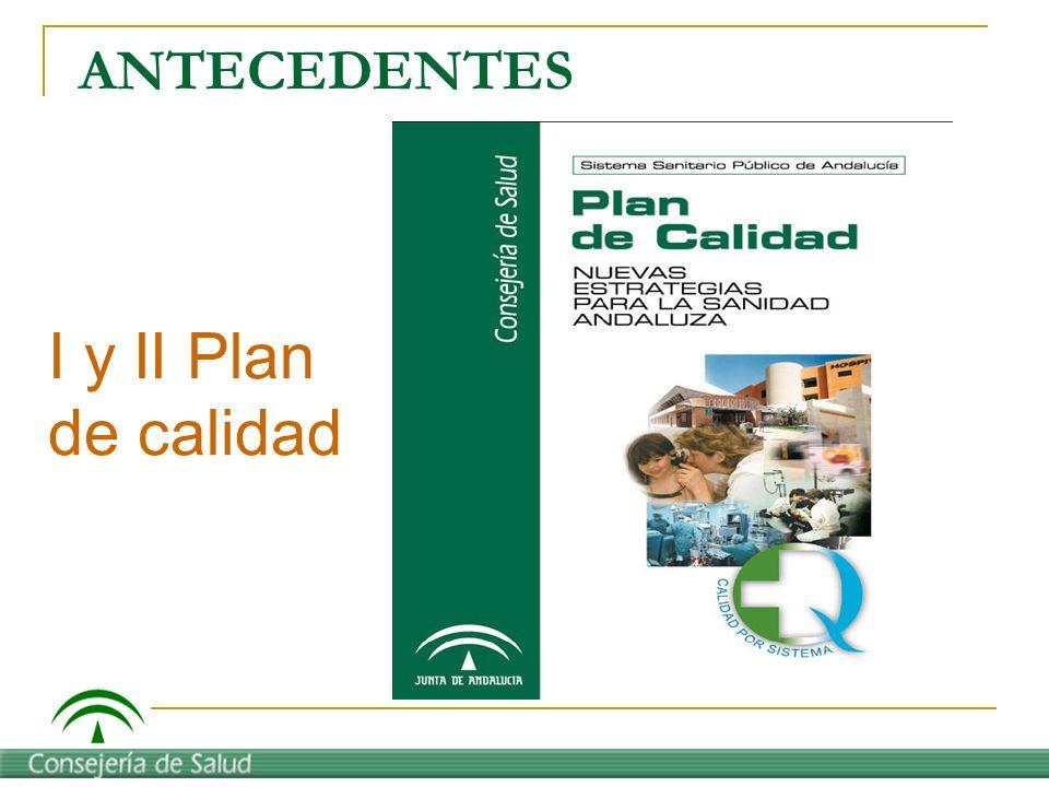 ANTECEDENTES I y II Plan de calidad
