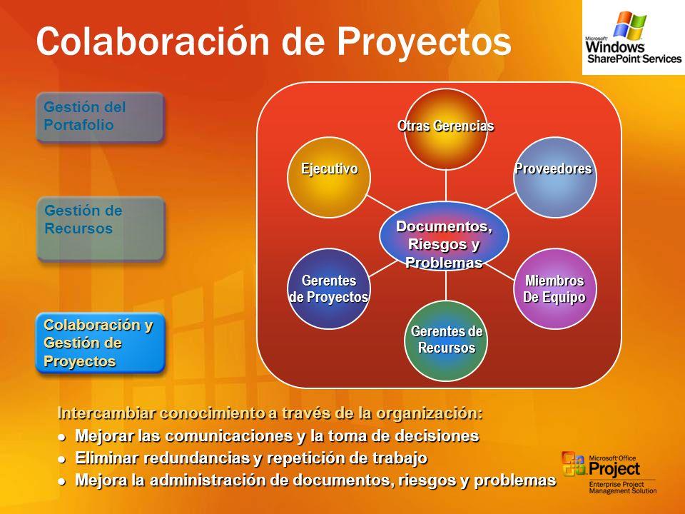 Colaboración de Proyectos Gerencia Project Manager Jefatura Miembro de Equipo Project Manager Jefatura Miembro de Equipo Colaboración y Gestión de Pro