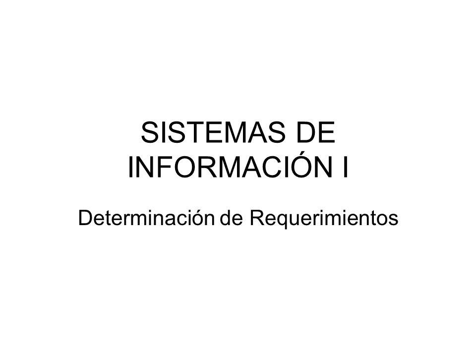 SISTEMAS DE INFORMACIÓN I Determinación de Requerimientos