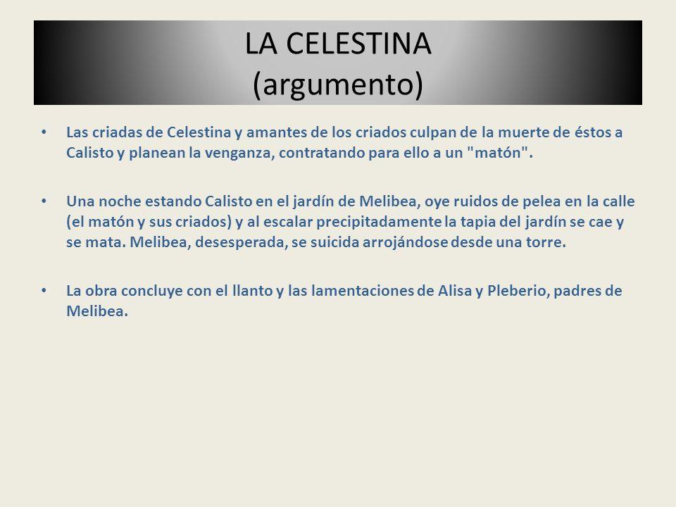 Las criadas de Celestina y amantes de los criados culpan de la muerte de éstos a Calisto y planean la venganza, contratando para ello a un