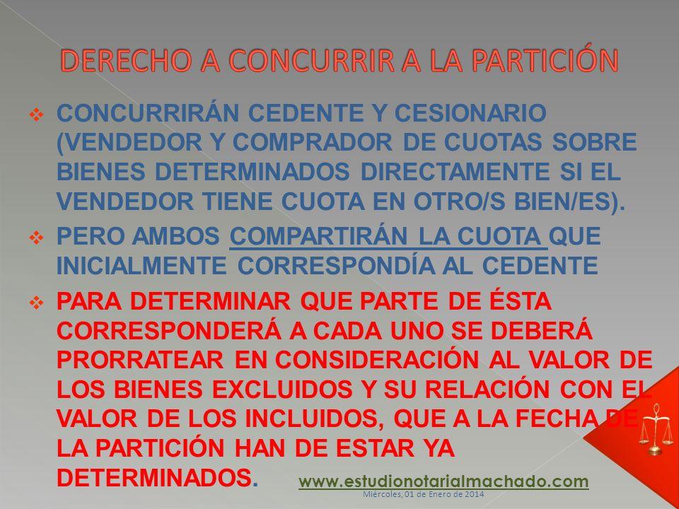 CONCURRIRÁN CEDENTE Y CESIONARIO (VENDEDOR Y COMPRADOR DE CUOTAS SOBRE BIENES DETERMINADOS DIRECTAMENTE SI EL VENDEDOR TIENE CUOTA EN OTRO/S BIEN/ES).