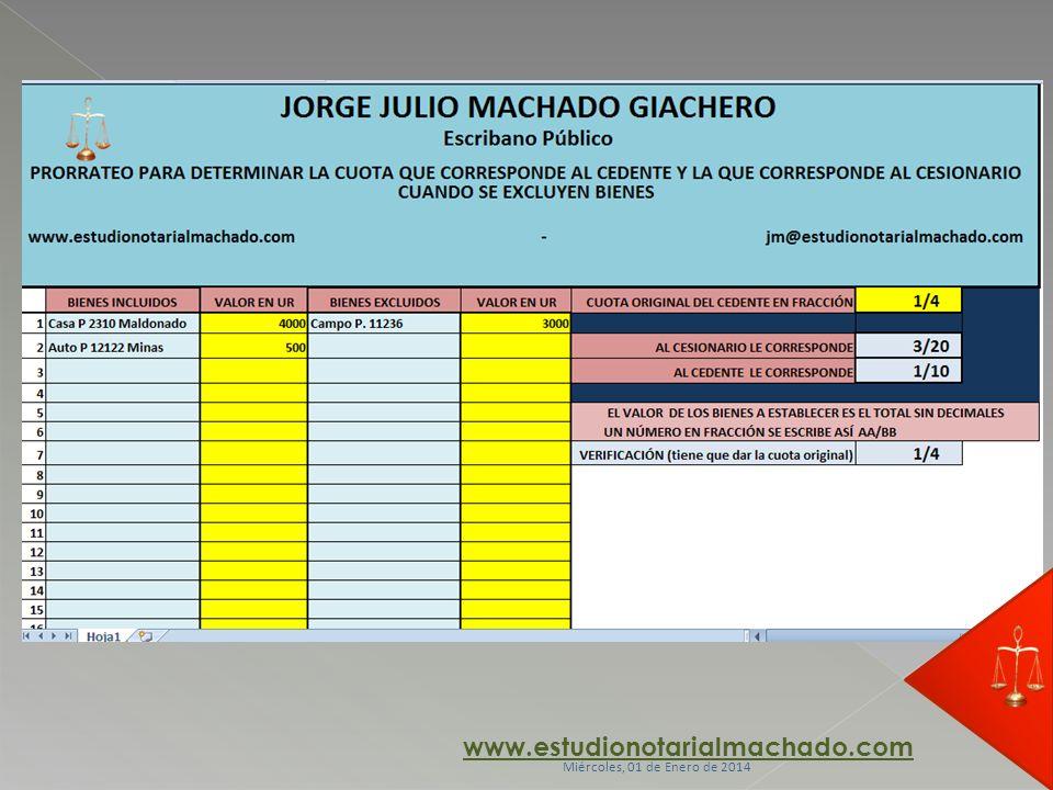 www.estudionotarialmachado.com Miércoles, 01 de Enero de 2014