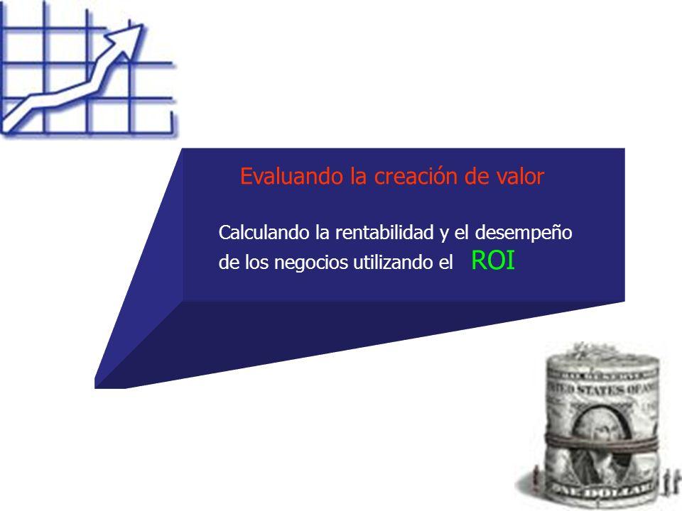 Evaluando la creación de valor Calculando la rentabilidad y el desempeño de los negocios utilizando el ROI