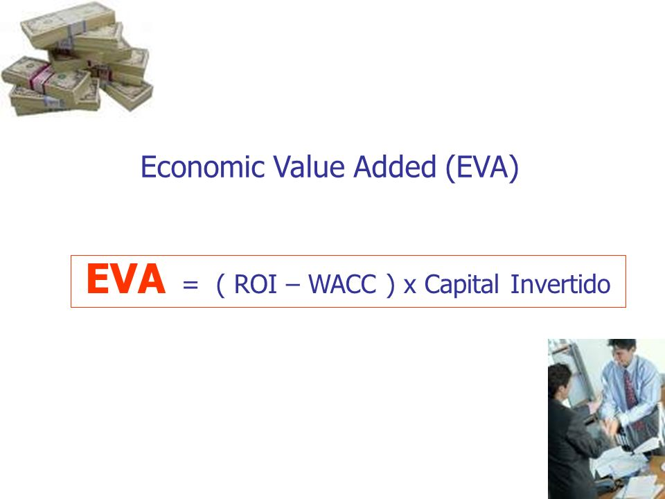 EVA = ( ROI – WACC ) x Capital Invertido Economic Value Added (EVA)