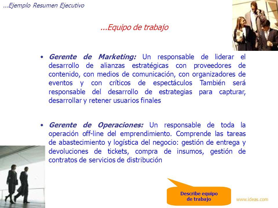 Gerente de Marketing: Un responsable de liderar el desarrollo de alianzas estratégicas con proveedores de contenido, con medios de comunicación, con o