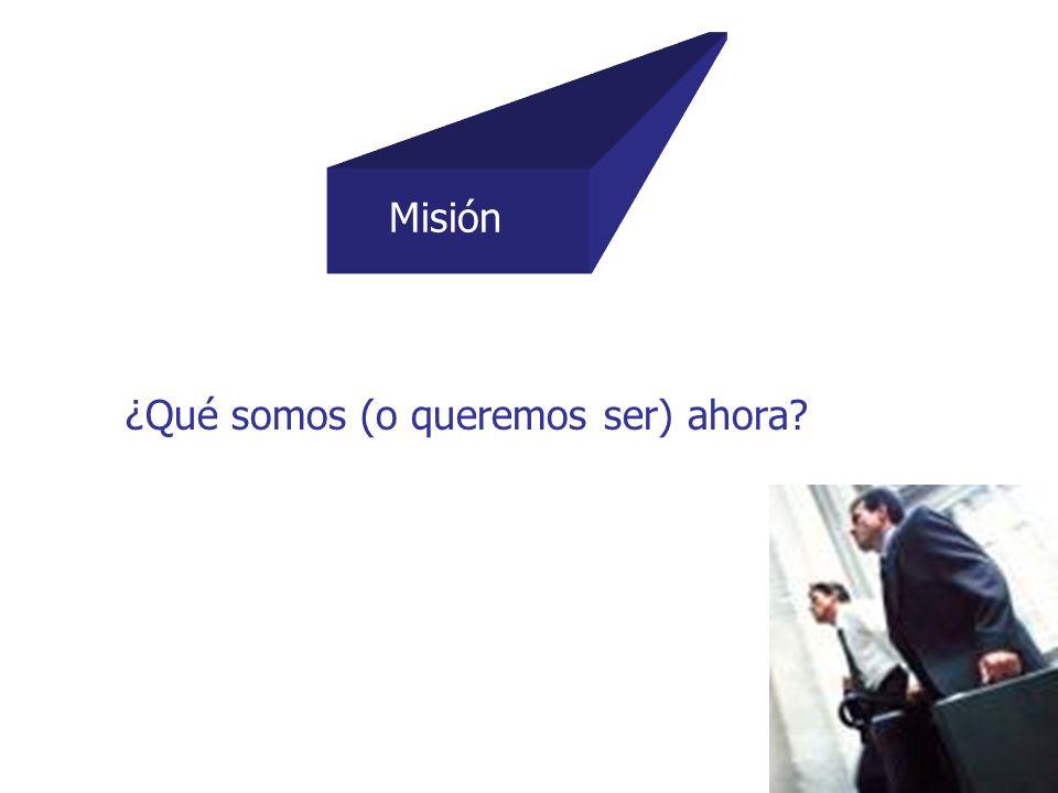 Misión ¿Qué somos (o queremos ser) ahora?