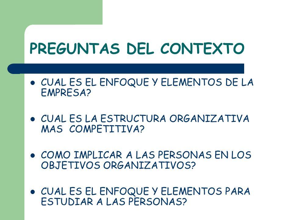 EL DIAGNOSTICO DE CULTURA ORGANIZACIONAL PERMITE: 1.