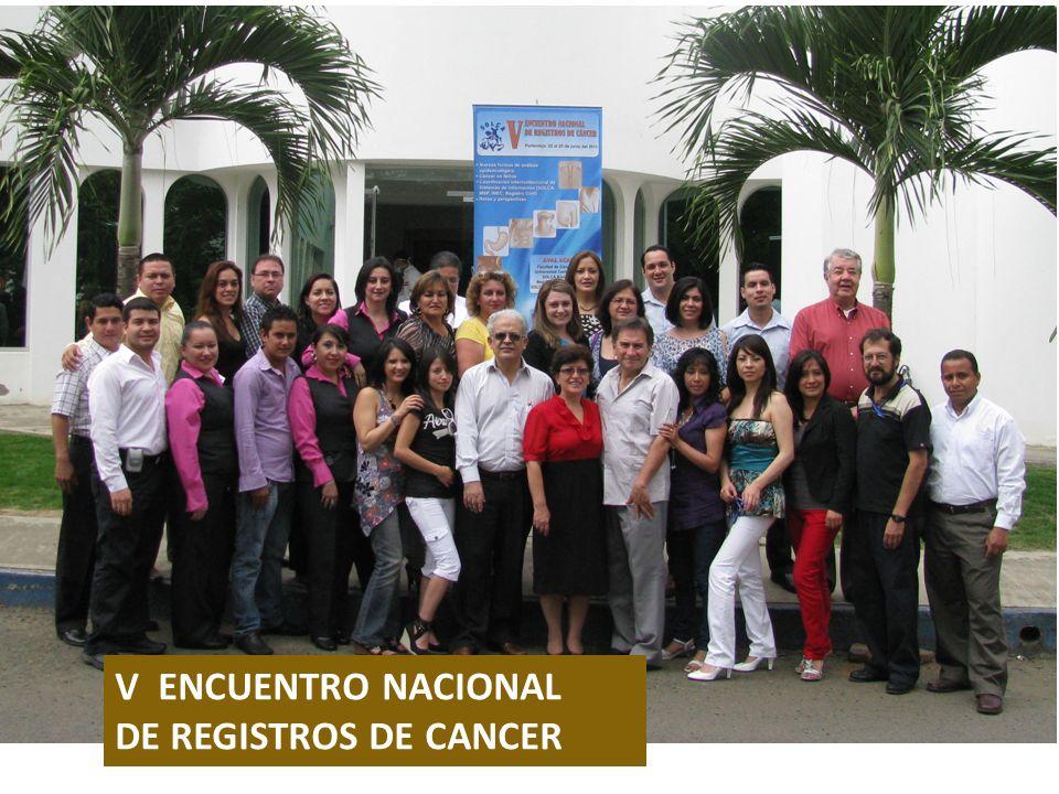 V ENCUENTRO NACIONAL DE REGISTROS DE CANCER