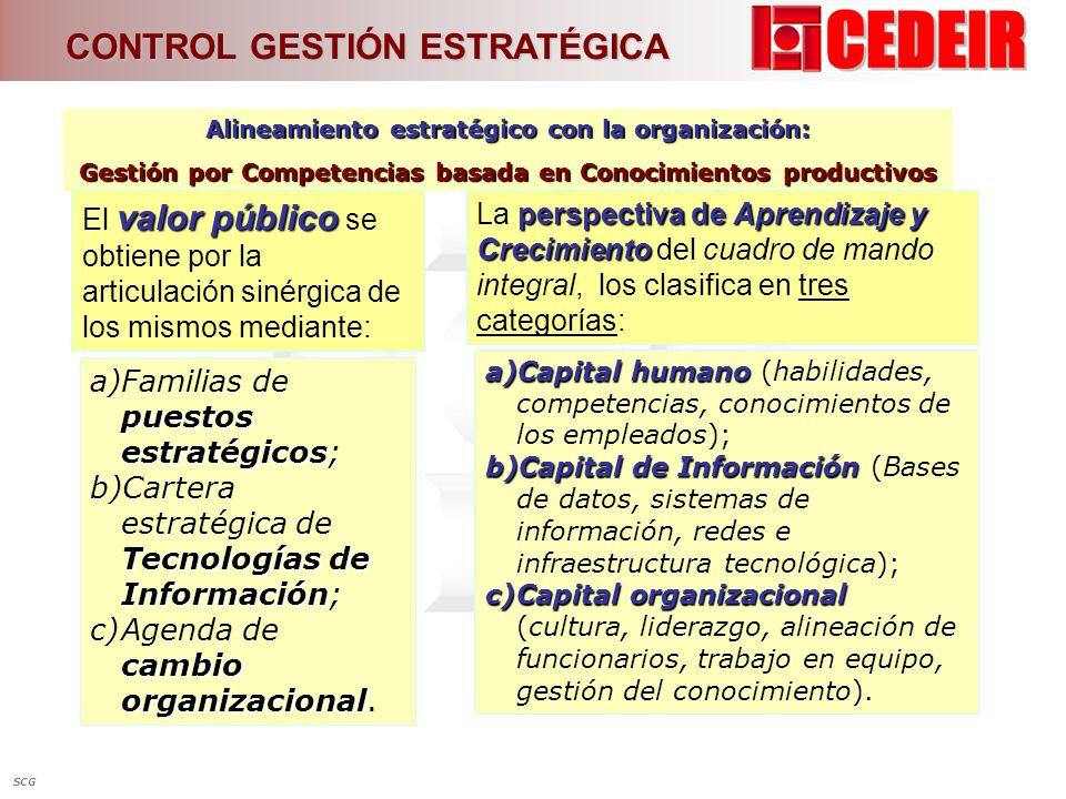 Alineamiento estratégico con la organización: Gestión por Competencias basada en Conocimientos productivos puestos estratégicos a)Familias de puestos