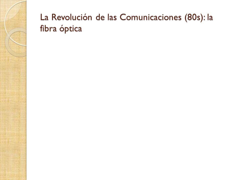 La Revolución de las Comunicaciones (80s): la fibra óptica