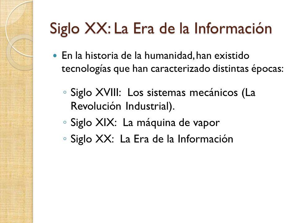 XX Century – Information technology Is it fair to call the twenty Century the Information Era.