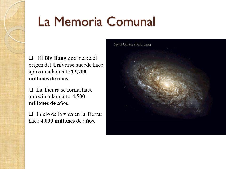 La Memoria Comunal El Big Bang que marca el origen del Universo sucede hace aproximadamente 13,700 millones de años.