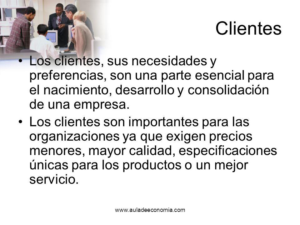 www.auladeeconomia.com Servicio al cliente Significa proporcionar a los clientes lo que quieren o necesitan, en la forma que lo desean y a la primera oportunidad.