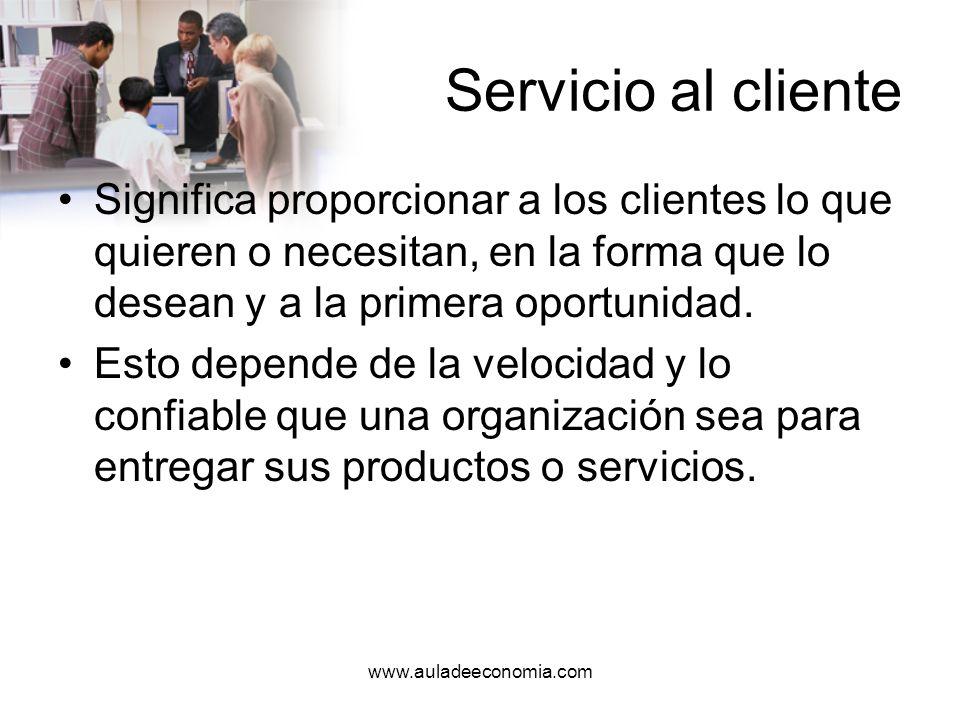 www.auladeeconomia.com Competencia directa Son aquellos individuos u organizaciones que ofrecen productos o servicios similares y que, por ende, se dirigen al mismo mercado.
