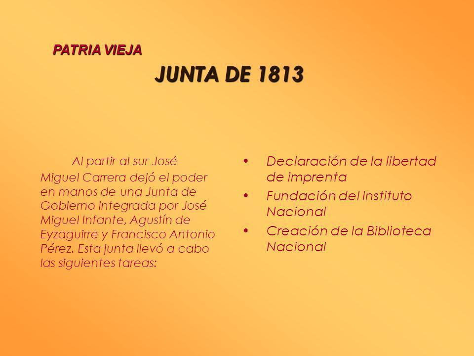 CAMPAÑAMILITAR DE1813 CAMPAÑA MILITAR DE 18131813 PATRIA VIEJA El Virrey José Fernando de Abascal envió al brigadier Antonio Pareja, en Valdivia y Chi