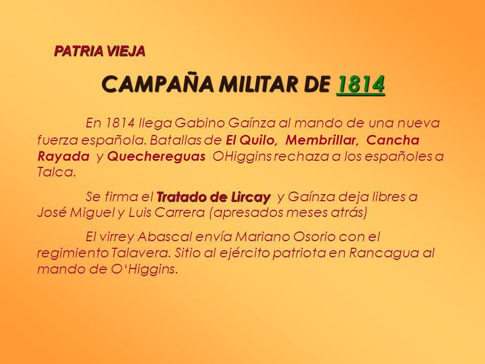 JUNTA DE 1813 Declaración de la libertad de imprenta Fundación del Instituto Nacional Creación de la Biblioteca Nacional PATRIA VIEJA Al partir al sur