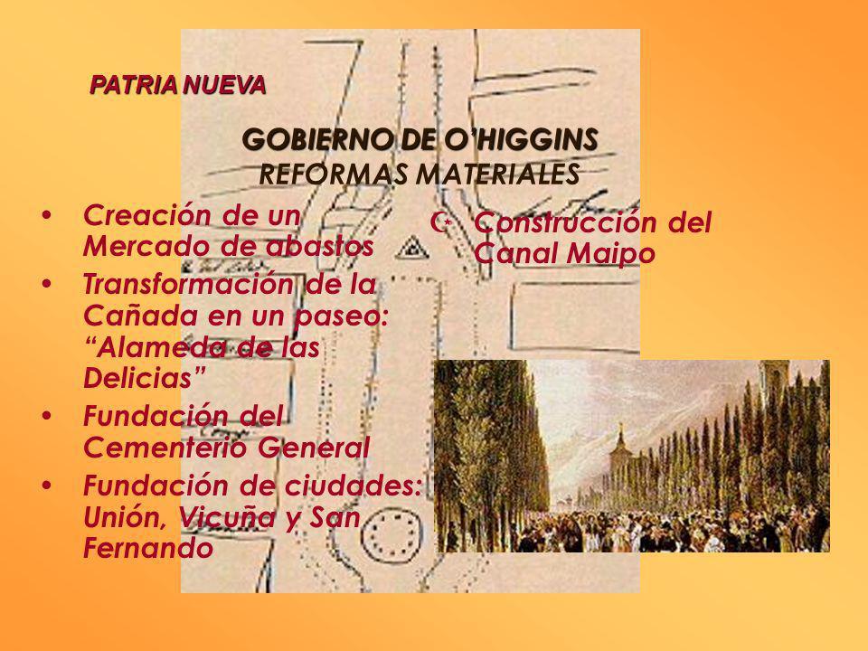 GOBIERNO DE OHIGGINS 1817 - 1823 GOBIERNO DE OHIGGINS 1817 - 1823 REFORMAS SOCIALES Abolición de títulos de nobleza Creación de la Legión del Mérito A