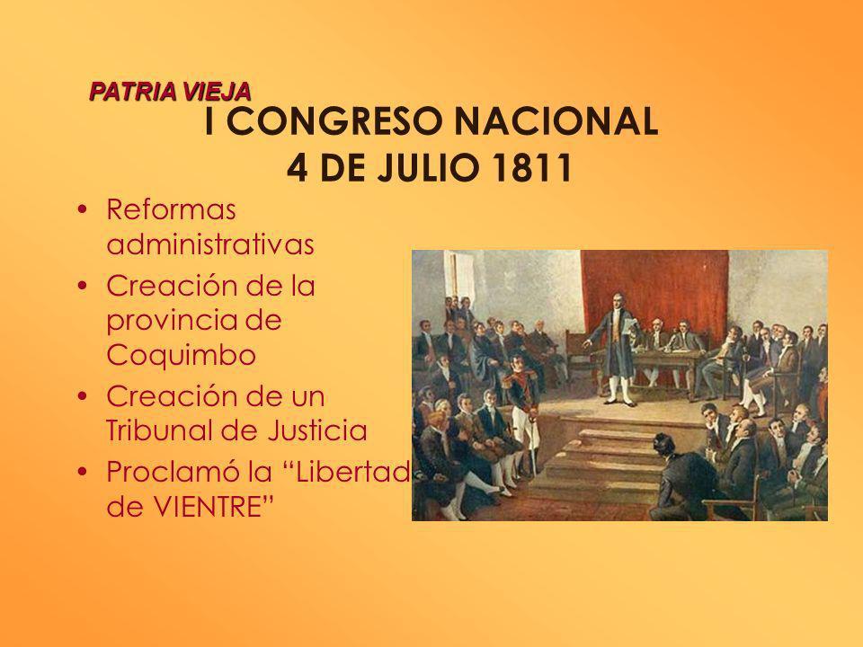 PRIMERA JUNTA NACIONAL DE GOBIERNO OBRAS PRIMERA JUNTA NACIONAL DE GOBIERNO OBRAS Creación de nuevos cuerpos militares Convoca a elecciones para un 1e