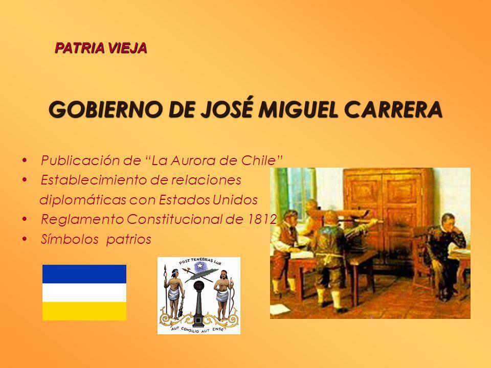 I CONGRESO NACIONAL 4 DE JULIO 1811 Reformas administrativas Creación de la provincia de Coquimbo Creación de un Tribunal de Justicia Proclamó la Libe