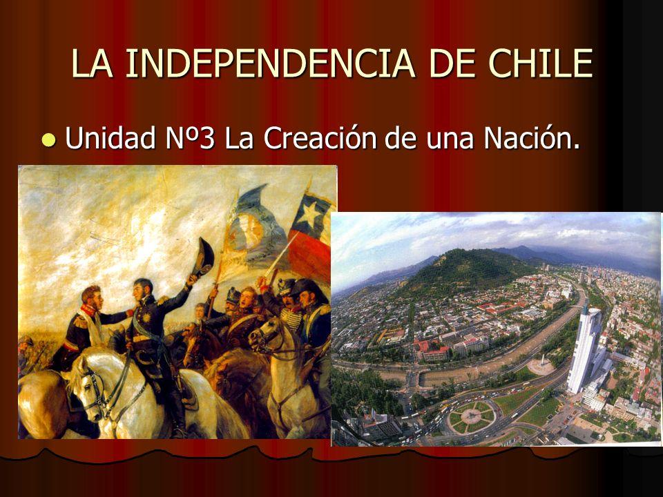 LA INDEPENDENCIA DE CHILE Unidad Nº3 La Creación de una Nación. Unidad Nº3 La Creación de una Nación.