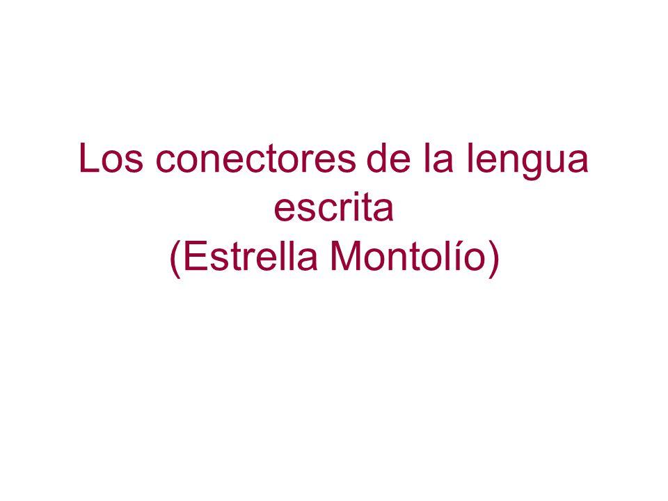 Los conectores de la lengua escrita NO PODREMOS REUNIRNOS CON VOSOTROS (STOP) PEDRO CON GASTROENTERITIS (STOP) SEGUID VOSOTROS SOLOS EL ITINERARIO PREVISTO (STOP) NO OLVIDÉIS HACER MUCHAS FOTOS Y COMPRARNOS REGALOS.