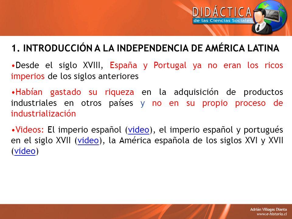 B) La «Fase Bélica» (1814 – 1824) El gobierno de las juntas, desata una guerra civil en América entre los patriotas (independentistas) y realistas (fieles a la corona española) Esta lucha se agudiza y la ganan los realistas con el retorno al trono de Fernando VII en Noviembre de 1813 De esta forma, comienza una cruenta guerra de independencia en toda América Latina José de San Martín y Simón Bolívar (video), son quienes organizan la independencia en América del Sur y Vicente Guerrero lo hace en Méxicovideo